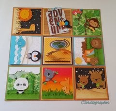 Continental Critters - Explosion box card