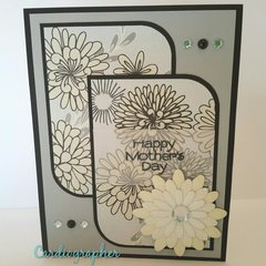Mother's day - black, gray and cream floral
