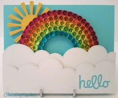 Sparkly rainbow slider
