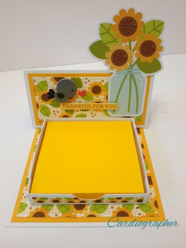 Sunflower note holder