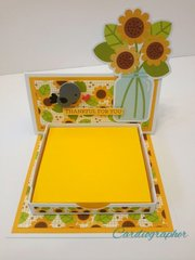 Sunflower note holder