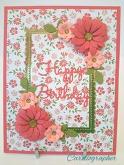 Peach and coral floral birthday