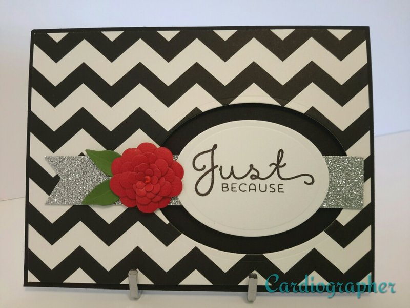 Just because - black and white chevron