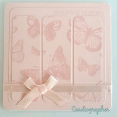 Monochromatic / two tone butterfly card set