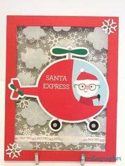 Santa Express - Easel card - closed view