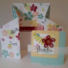 Double gate fold card - Just because