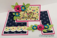 Bright Floral Birthday Impossible Card