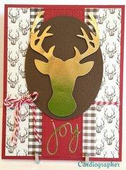 Deer - masculine Christmas card