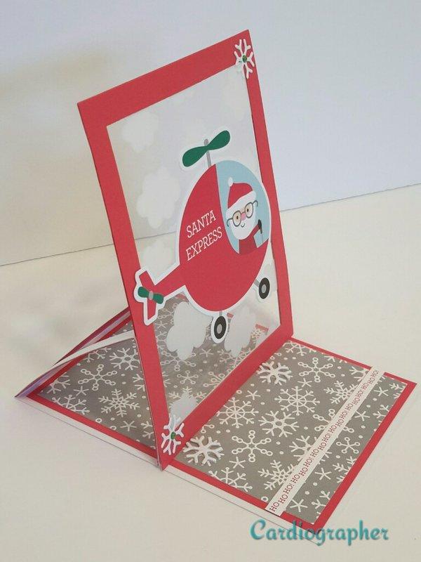Santa Express - Easel card - side view
