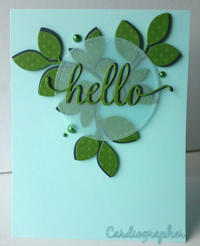 hello - leaves and vellum