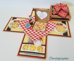 Pizza explosion box card
