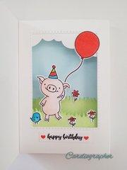 This little piggy birthday - inside