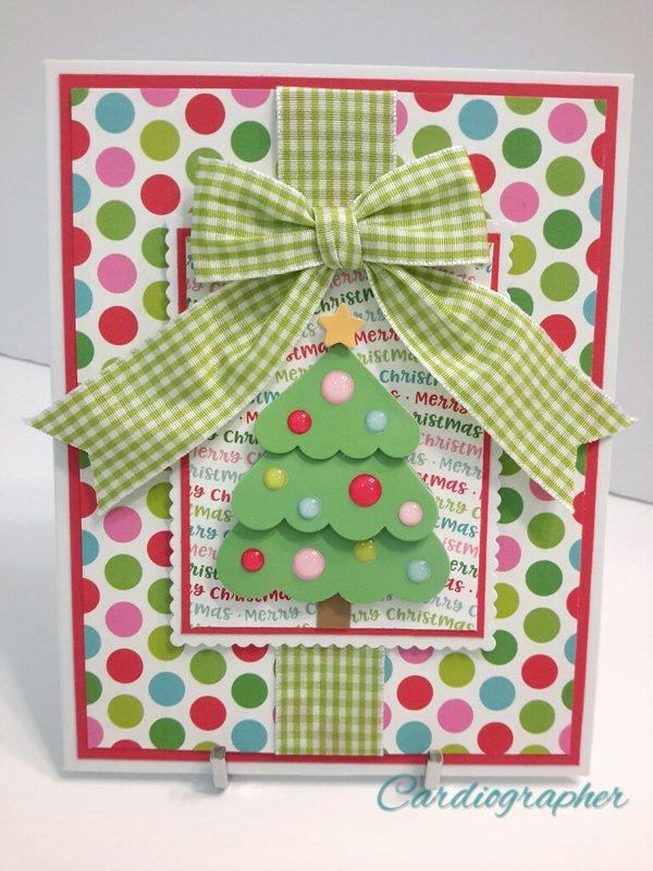 Christmas tree - dots and gingham
