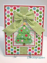 Christmas tree - dots and gingham
