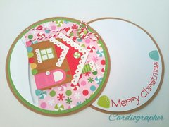 Gingerbread swivel card