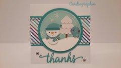 Cute Snowman Thanks