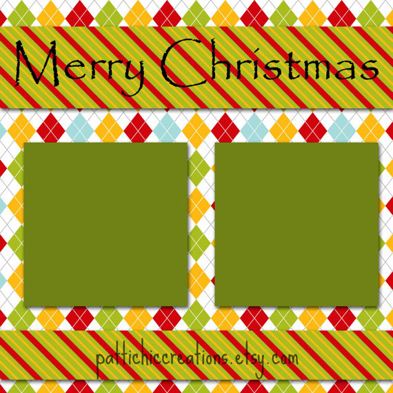 Merry Christmas 12x12 Scrapbook Page Layout