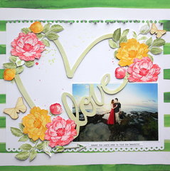 Love Scrapbook layout