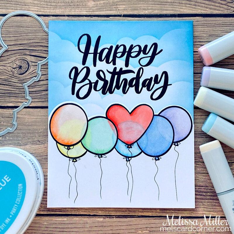 Rainbow Birthday Balloons