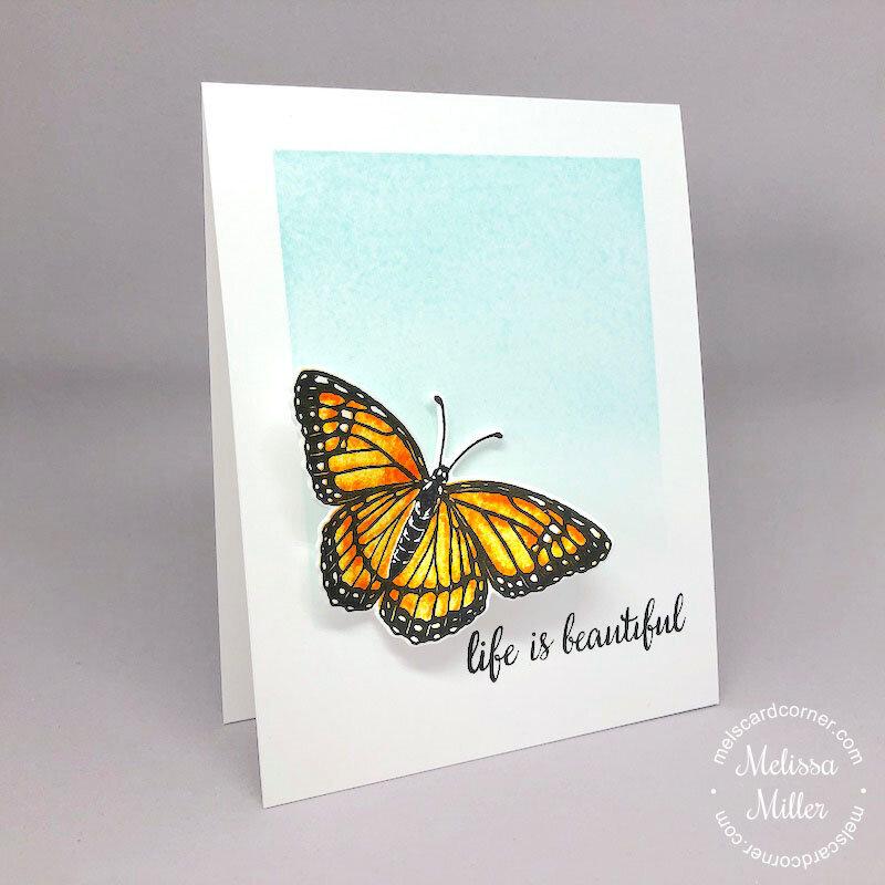 CAS Card featuring Hero Arts Layering Monarch