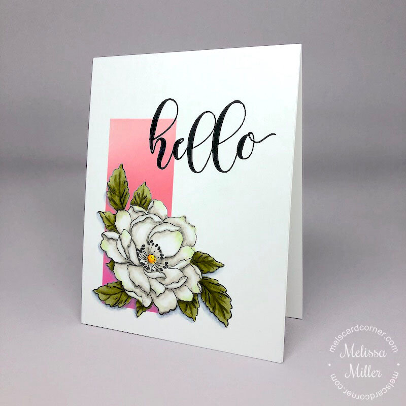 One Layer Card - Floral