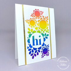 Floral Sampler Rainbow Card