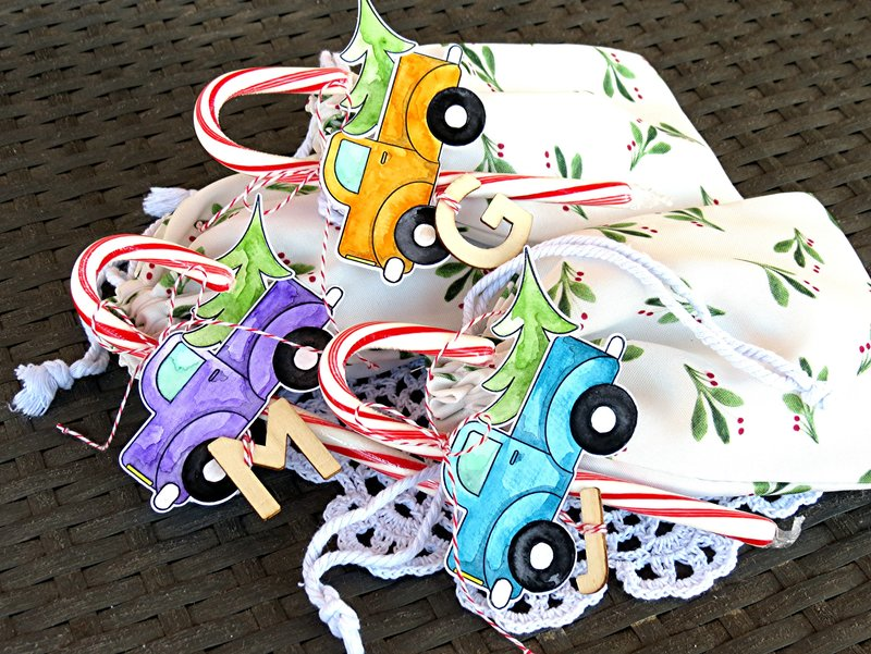Truck Christmas Tags