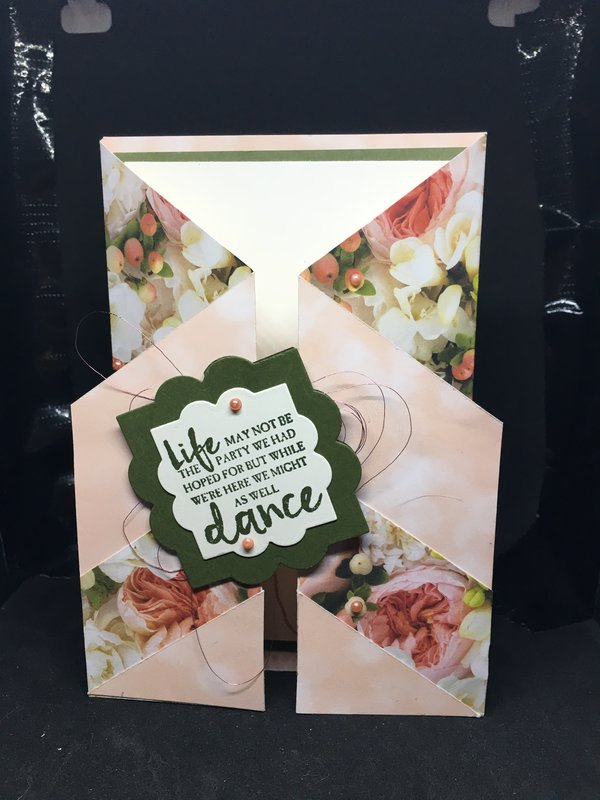Rose fancy fold card