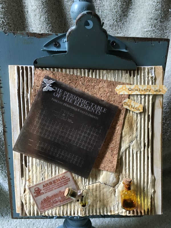 Front. Panel of card. All Tim holtz