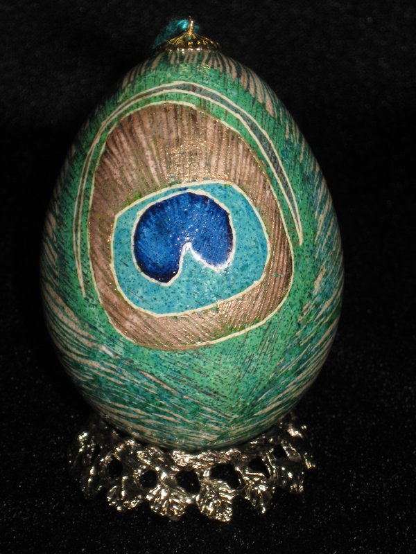 Peacock Pysanky-front
