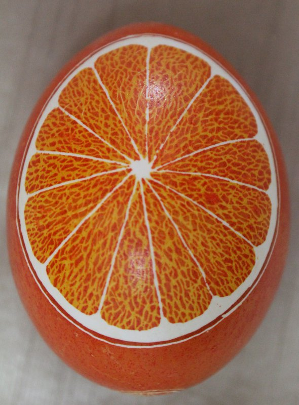 The Orange Pysanka I kept for myself