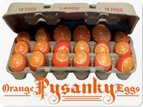 ORANGE PYSANKY EGGS