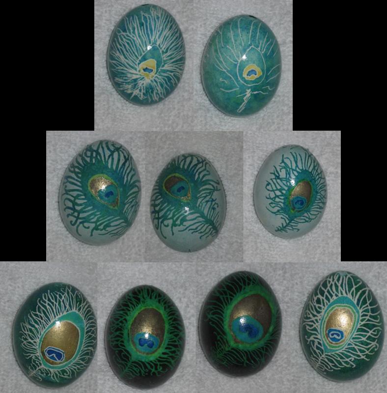 Progression of Pysanky Peacock