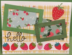 Hello with Strawberries