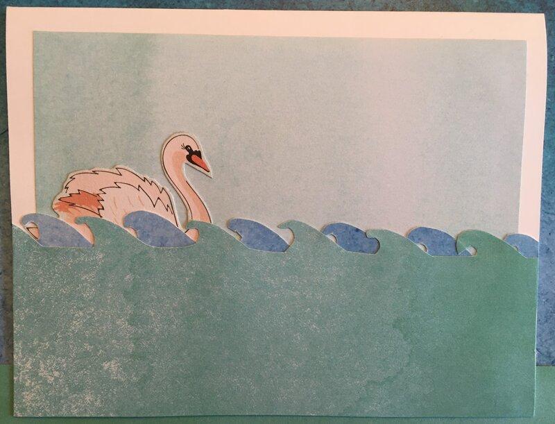 Simple swan card