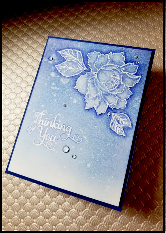 Water-Bleached Flower Card