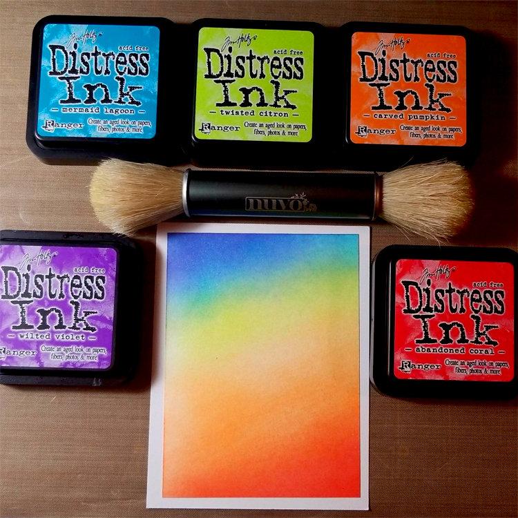 Brush-blended Distress Ink Background