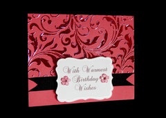 Coral Foiled Card