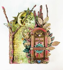 Mixed Media House for Finnabair March 2019 Art Recipe Challenge