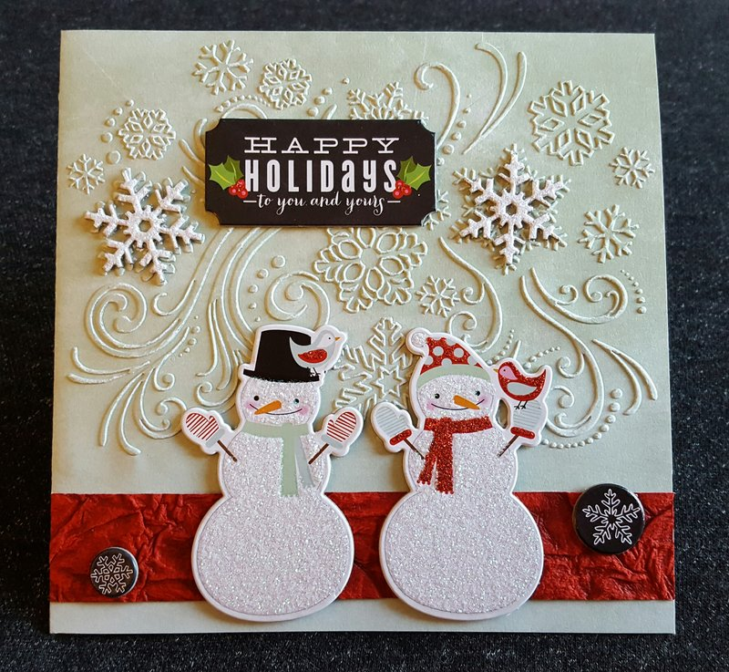 Happy Holidays Snowmen Card