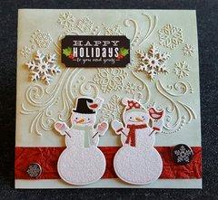 Happy Holidays Snowmen Card