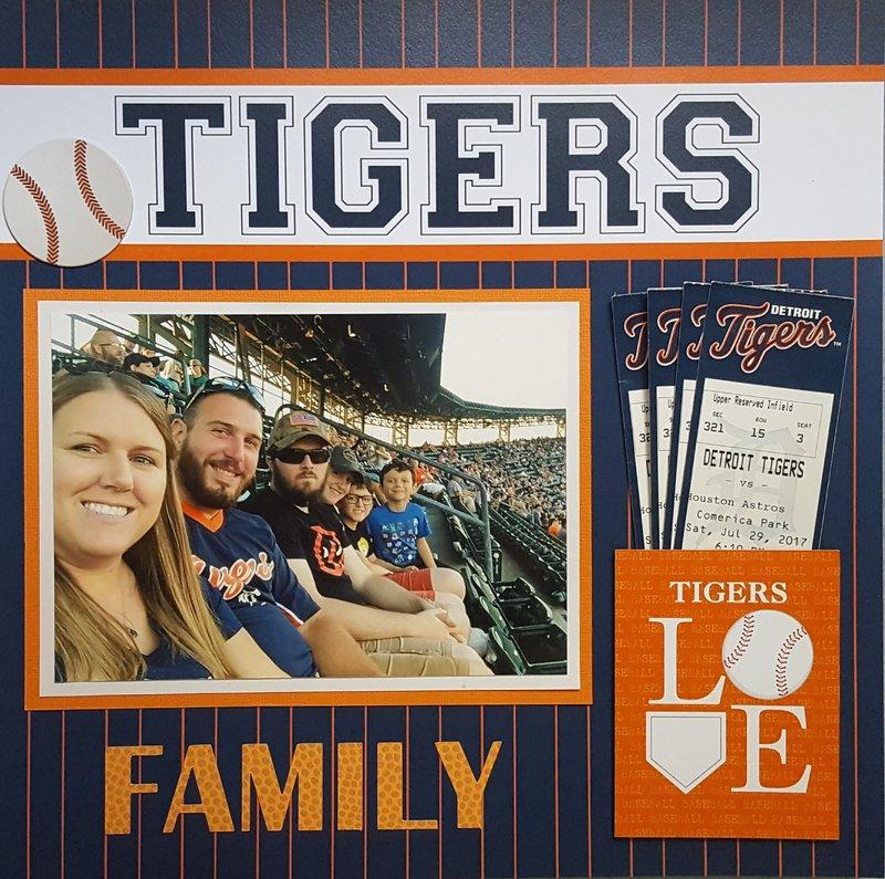 Tigers Baseball with Family