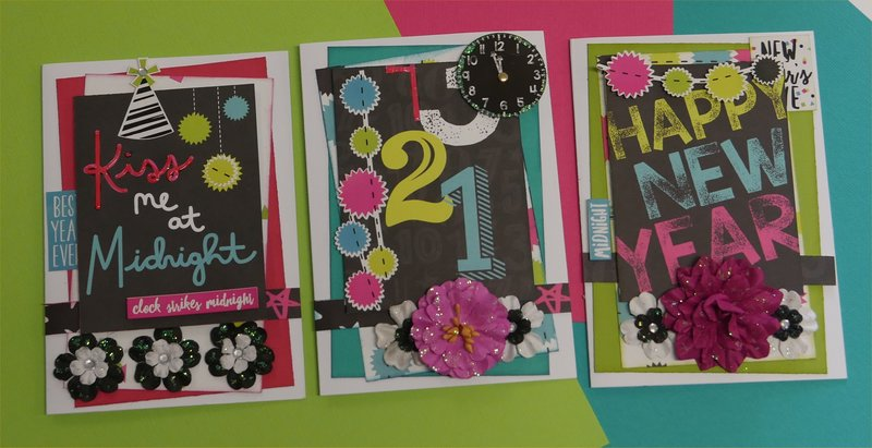 3 Happy New Year Cards
