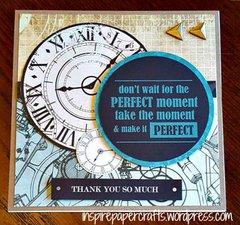 Time Machine Thank You Card