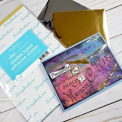 Foil accents card using Sentimientos en Espanol