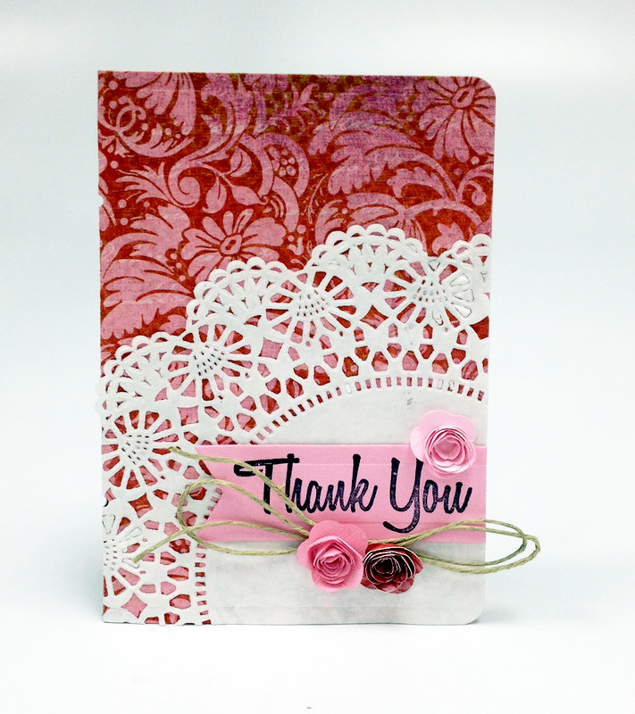 Doily Thank You Card