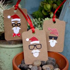 Hipster Santa Tags