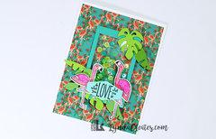 Flamingo Shaker Card