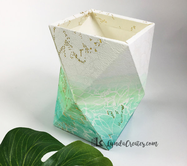 Ombre Watercolor Geometric Holder