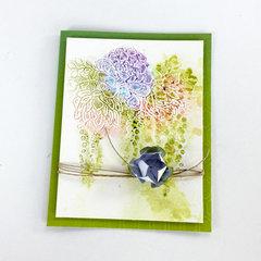 Faux Watercolor Embossed Card